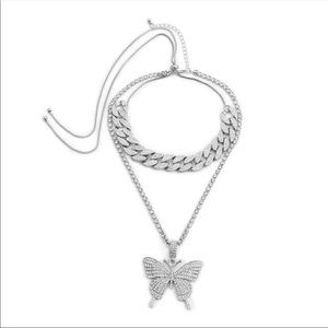 Butterfly Cuban necklace